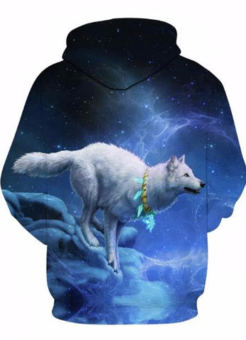 MOLETOM 3D WOLF IN NIGHT UNISEX