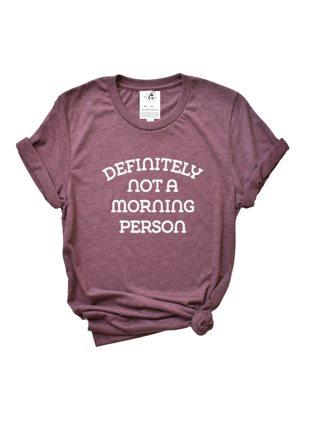 Blonde Ambition Definitely Not a Morning Person Boyfriend Tee