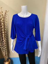 Load image into Gallery viewer, Joseph Ribkoff 3/4 Sleeve Knot Top Style: 211263