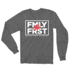 Lil Durk - FMLY FRST Long Sleeve Tshirt (Heather Grey - White Ink) - OTF
