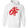 OTF White and Red Hoodie