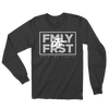 Lil Durk - FMLY FRST Long Sleeve Tshirt (Black - Grey Ink) - OTF