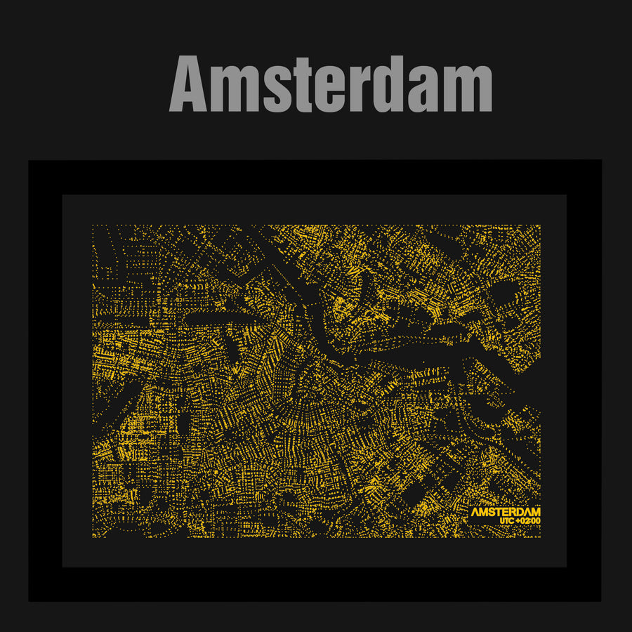NITELANDING Amsterdam Map- Lighting Decoration Art