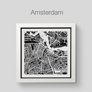NITELANDING Amsterdam Map- Lighting Decoration Art - ZERO DEGREE