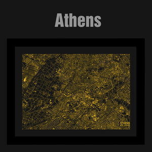 NITELANDING Athens Map - Lighting Decoration Art