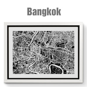 NITELANDING Bangkok Map - Lighting Decoration Art