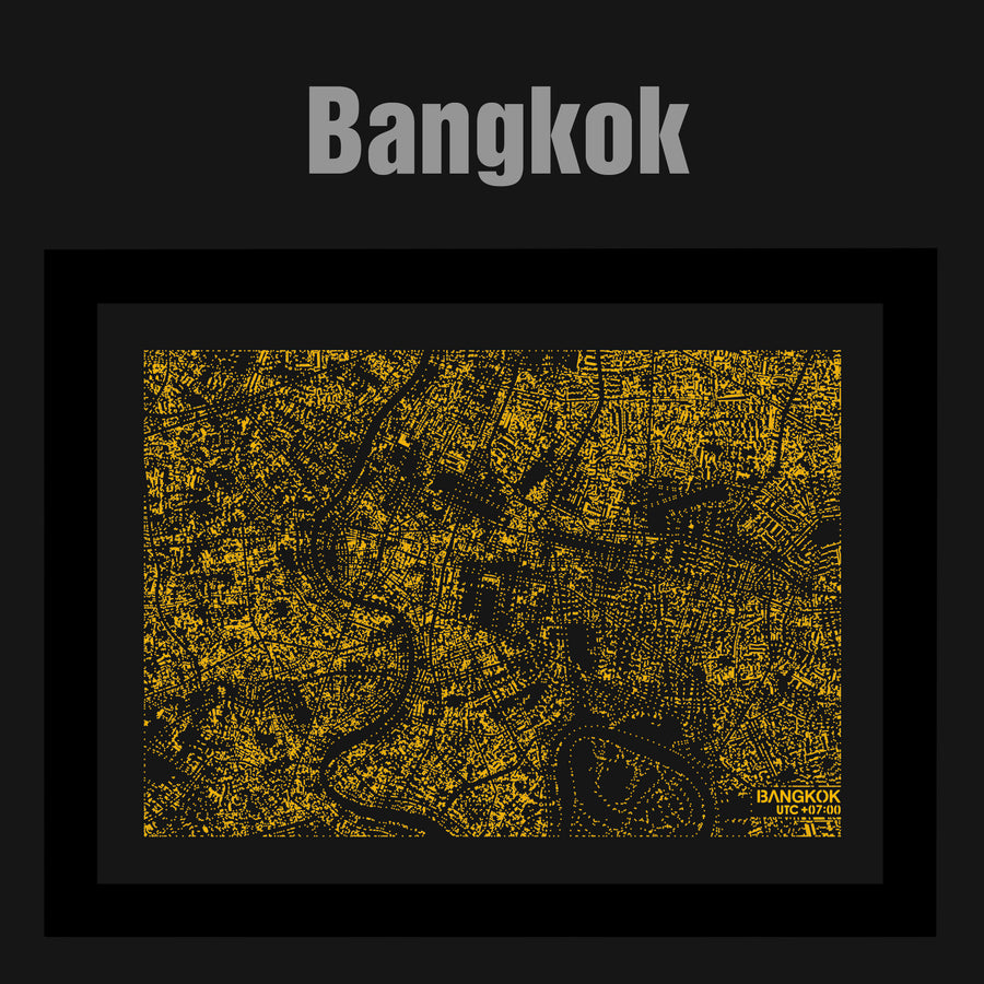 NITELANDING Bangkok Map - Lighting Decoration Art - ZERO DEGREE