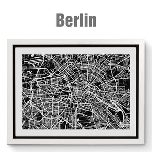NITELANDING Berlin Map - Lighting Decoration Art - ZERO DEGREE