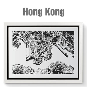NITELANDING Hong Kong Map - Lighting Decoration Art
