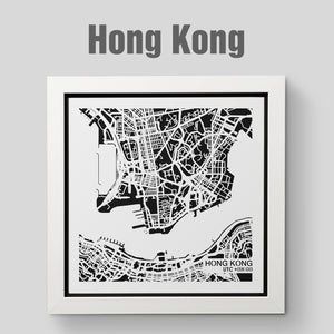 NITELANDING Hong Kong Map - Lighting Decoration Art - ZERO DEGREE