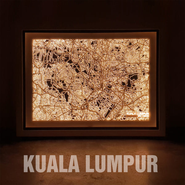 NITELANDING Kuala Lumpur Map - Lighting Decoration Art - ZERO DEGREE