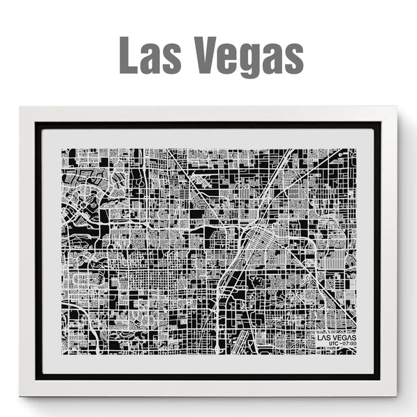 NITELANDING Las Vegas Map - Lighting Decoration Art