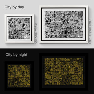 NITELANDING Las Vegas Map - Lighting Decoration Art - ZERO DEGREE