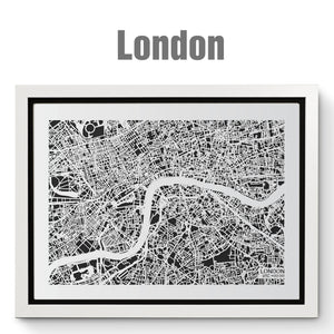 NITELANDING London Map - Lighting Decoration Art - ZERO DEGREE