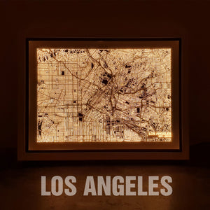 NITELANDING Los Angeles Map - Lighting Decoration Art - ZERO DEGREE