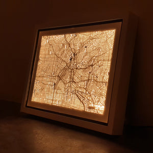 NITELANDING Los Angeles Map - Lighting Decoration Art