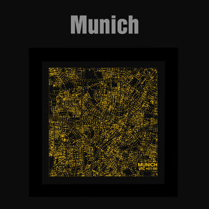 NITELANDING Munich Map - Lighting Decoration Art - ZERO DEGREE