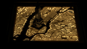 NITELANDING New York Map - Lighting Decoration Art - ZERO DEGREE
