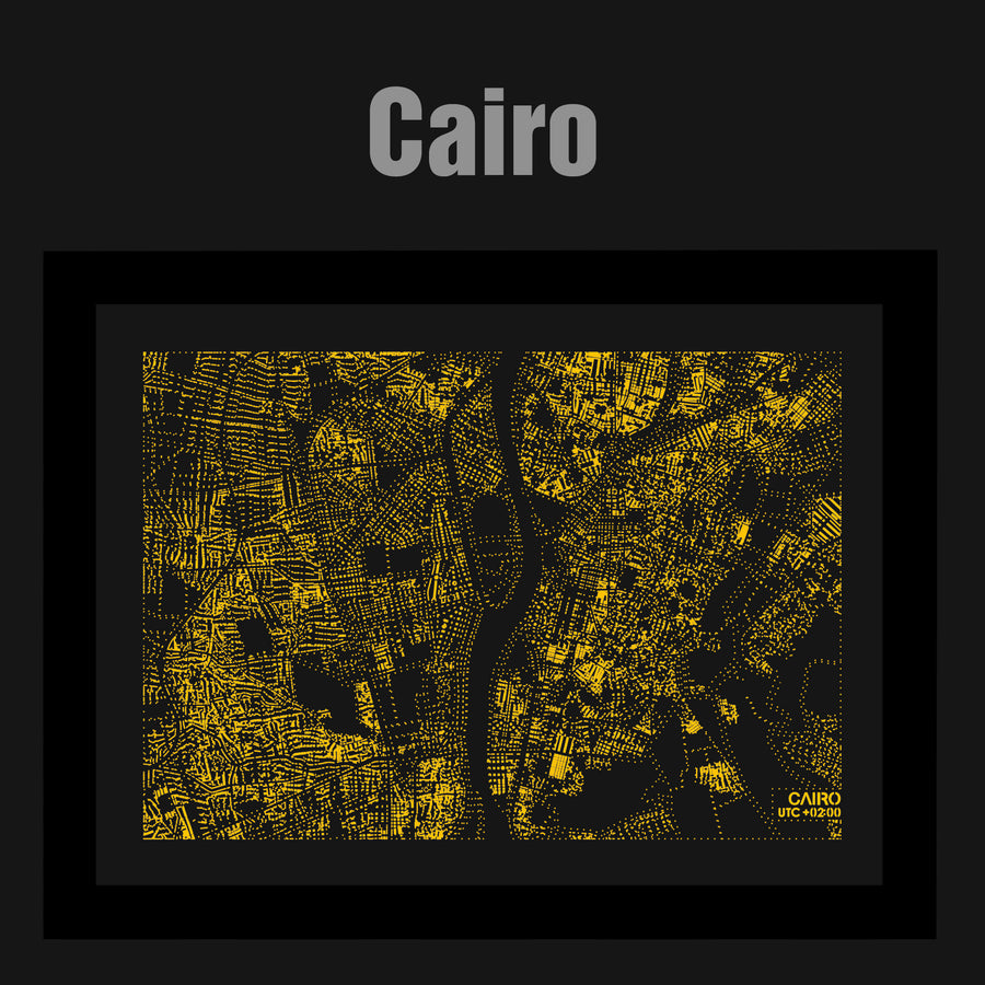 NITELANDING Cairo Map - Lighting Decoration Art - ZERO DEGREE