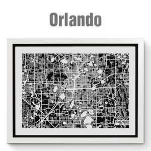 NITELANDING Orlando Map - Lighting Decoration Art
