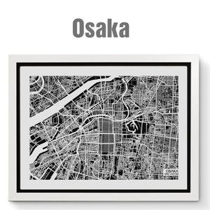 NITELANDING Osaka Map - Lighting Decoration Art - ZERO DEGREE