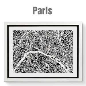 NITELANDING Paris Map - Lighting Decoration Art - ZERO DEGREE