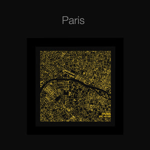 NITELANDING Paris Map - Lighting Decoration Art