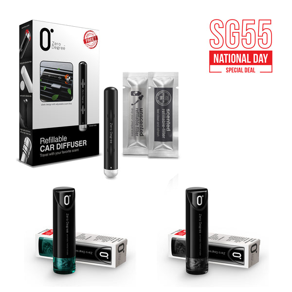 NATIONAL DAY SPECIAL (Combo 1) | Car Diffuser + Aromatic Herbal Inhaler 2 Color Set
