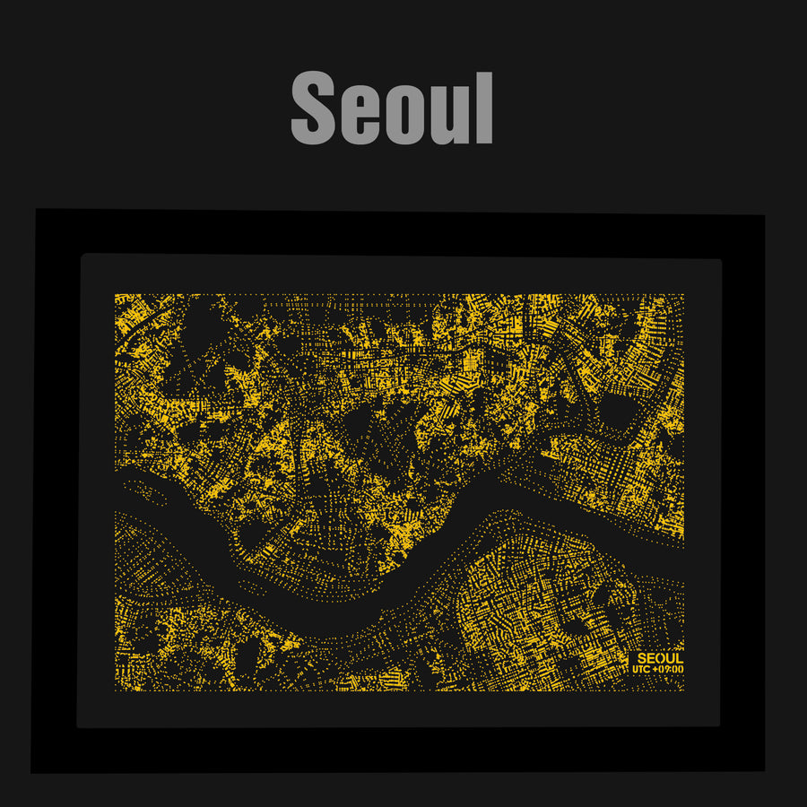 NITELANDING Seoul Map - Lighting Decoration Art - ZERO DEGREE