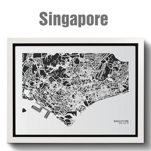 NITELANDING Singapore Map - Lighting Decoration Art (55%OFF - limited quantity)