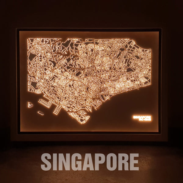 NITELANDING Singapore Map - Lighting Decoration Art