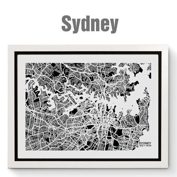 NITELANDING Sydney Map - Lighting Decoration Art
