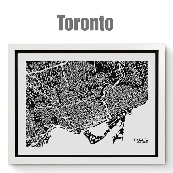 NITELANDING Toronto Map - Lighting Decoration Art