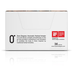 ZERO DEGREE: Aromatic Herbal Inhaler - Set Counter Box - ZERO DEGREE