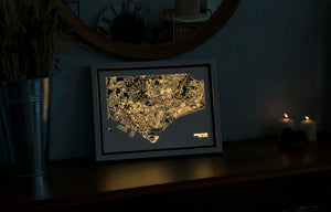NITELANDING Singapore Map - Lighting Decoration Art - ZERO DEGREE