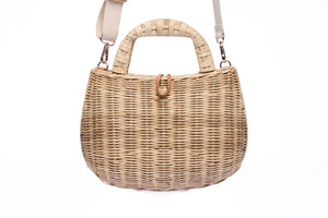 Abi Natural Wicker Shoulder Bag