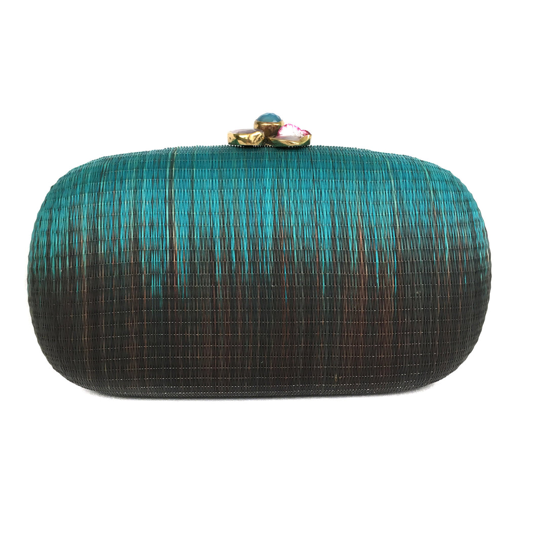 Turquoise Dream Oval Clutch (Vegan)
