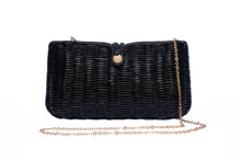 Load image into Gallery viewer, Myra Wicker Clutch Black