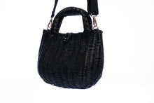 Load image into Gallery viewer, Abi Wicker Black Shoulder Bag