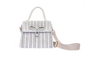 Adie Wicker White Shoulder Bag