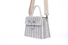 Load image into Gallery viewer, Adie Wicker White Shoulder Bag