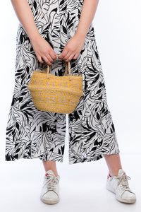 Gina foldable mini basket Vegan handbag