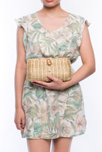 Load image into Gallery viewer, Myra Wicker Clutch Natural