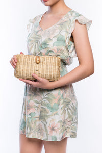 Myra Wicker Clutch Natural