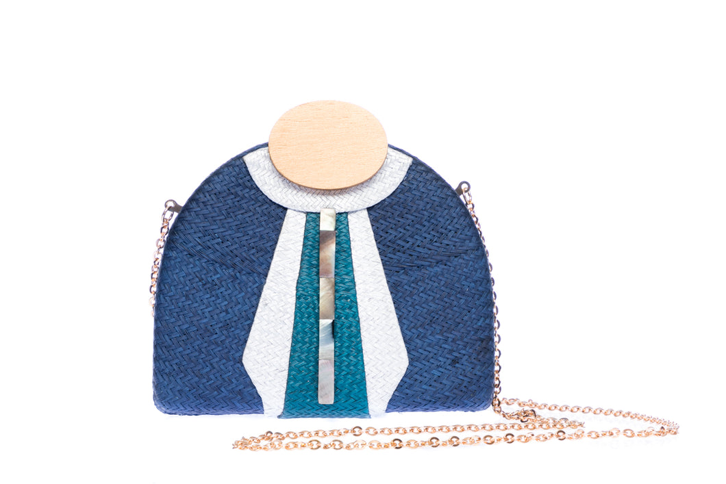Gatsby Navy Evening clutch