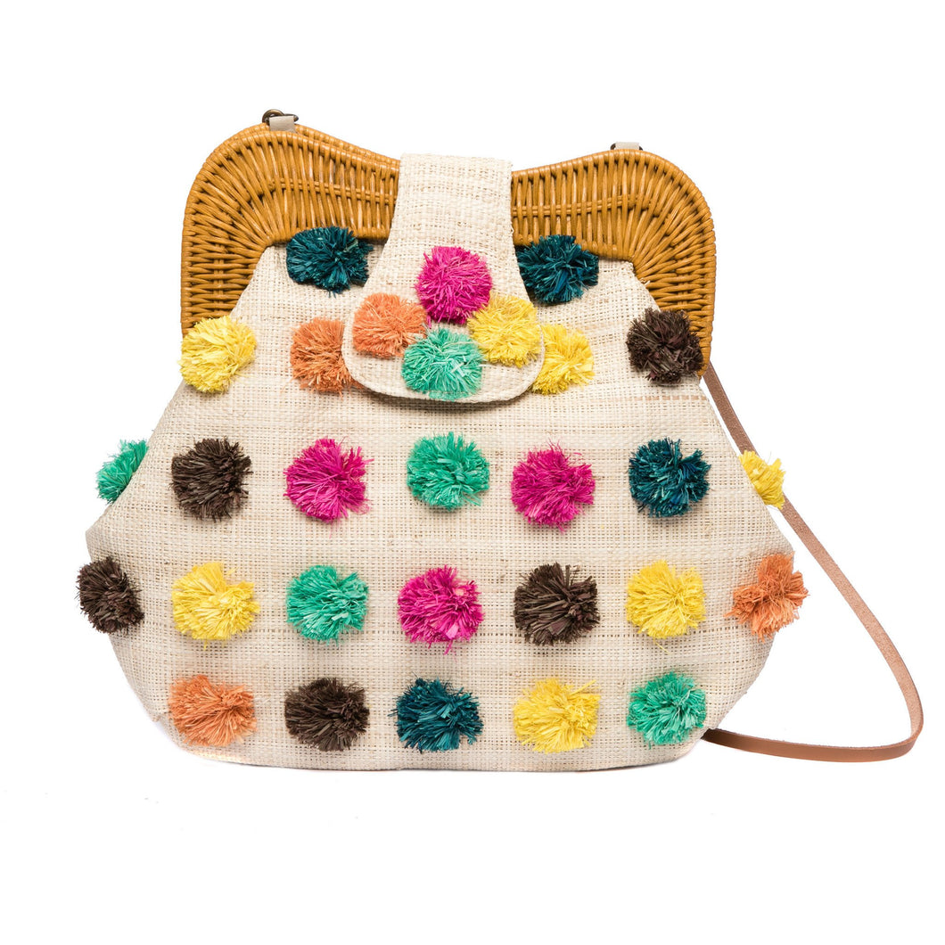 Forest Pompom Libby Shoulder Bag