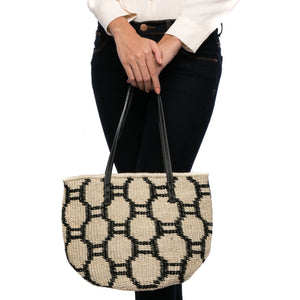 Beehive handwoven abaca tote