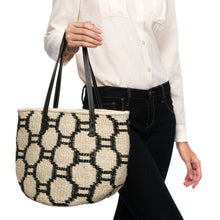 Load image into Gallery viewer, Beehive handwoven abaca tote