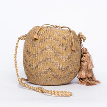 Load image into Gallery viewer, Larone Kate Circle Shoulder Bag with Zigzag Embro