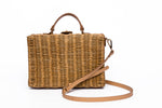 Minimalist Wicker Box bag